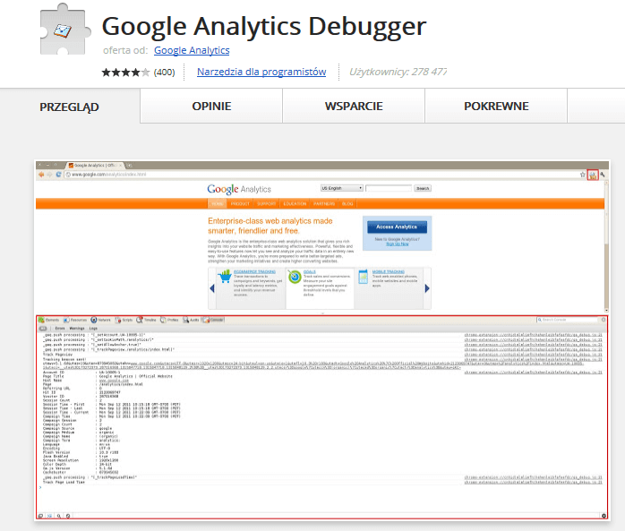 google analytics debuger-min