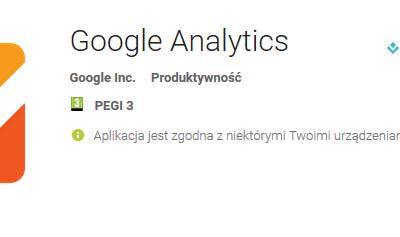 Nowa aplikacja Google Analytics dla Androida